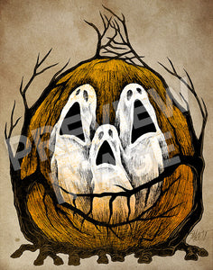 Halloween Spirits Art Print