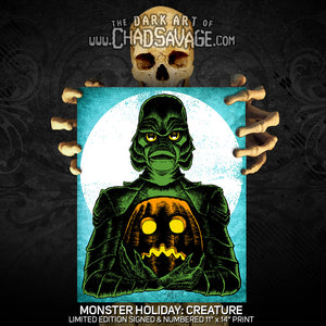 Monster Holiday: Creature Art Print