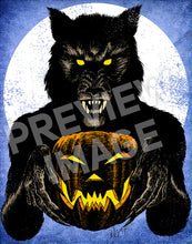 Monster Holiday: Werewolf Art Print