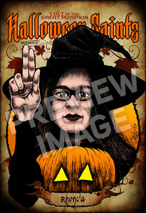 Halloween Saints Series 2: Rhonda Art Print (Color and Black & White)