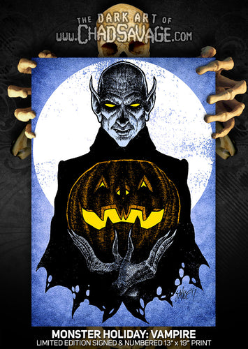 Monster Holiday: Vampire Art Print