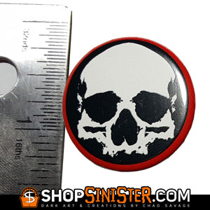 Set of 3 Skull Circle Buttons