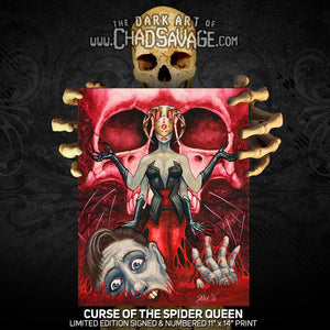 Curse of the Spider Queen Art Print