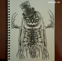 Dapper Jack 2 Original Halloween Drawing