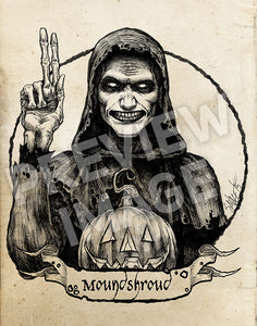 Halloween Saints: Carapace Clavicle Moundshroud Art Print (Color and Black & White)
