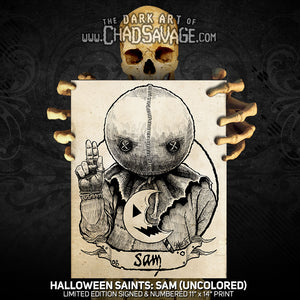 Halloween Saints: Sam Art Print (Color and Black & White)