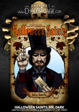 Halloween Saints: Mr. Dark Art Print (Color and Black & White)