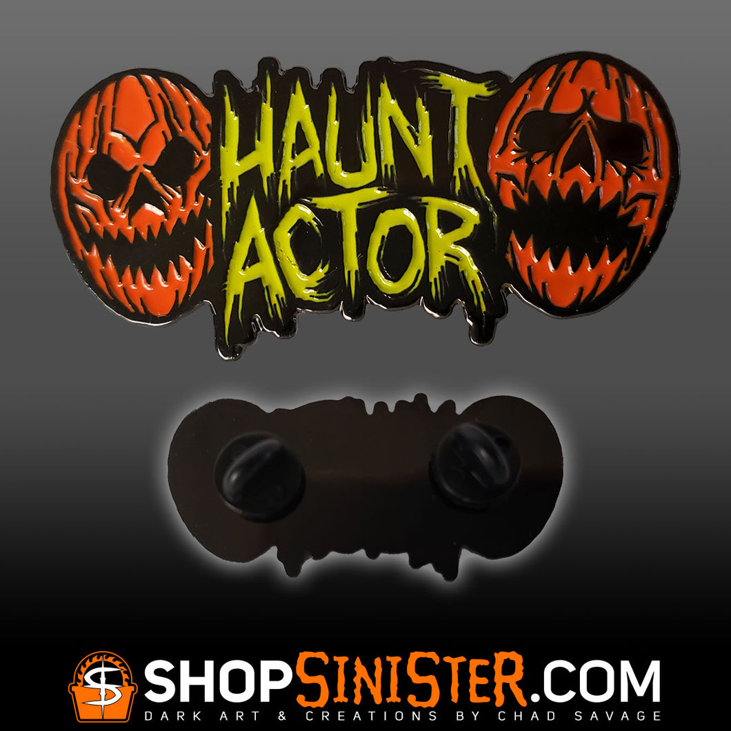 Haunt Actor Enamel Lapel Pin