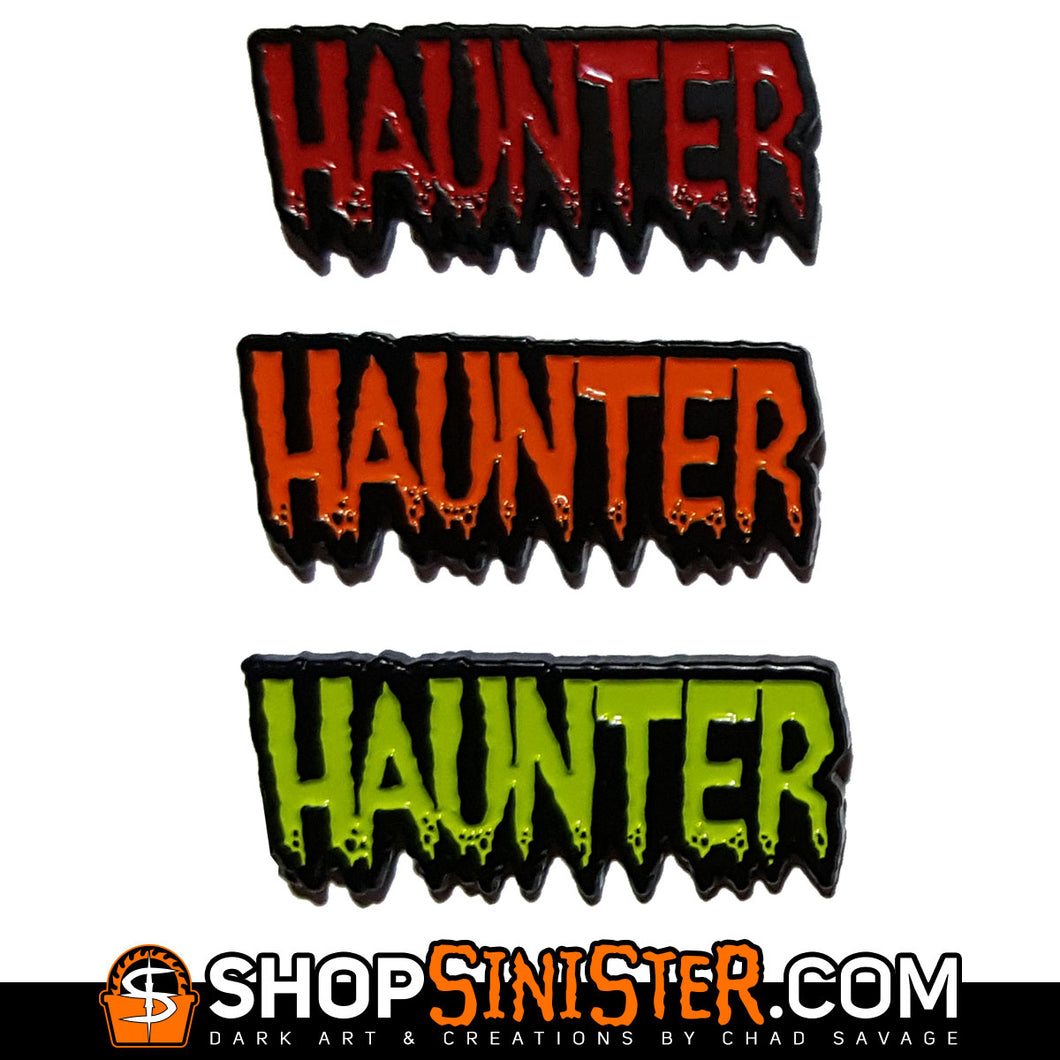 HAUNTER Enamel Lapel Pin