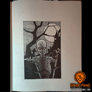 Graveyard Zombie Original Drawing
