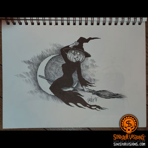Inktober Witch Original Drawing