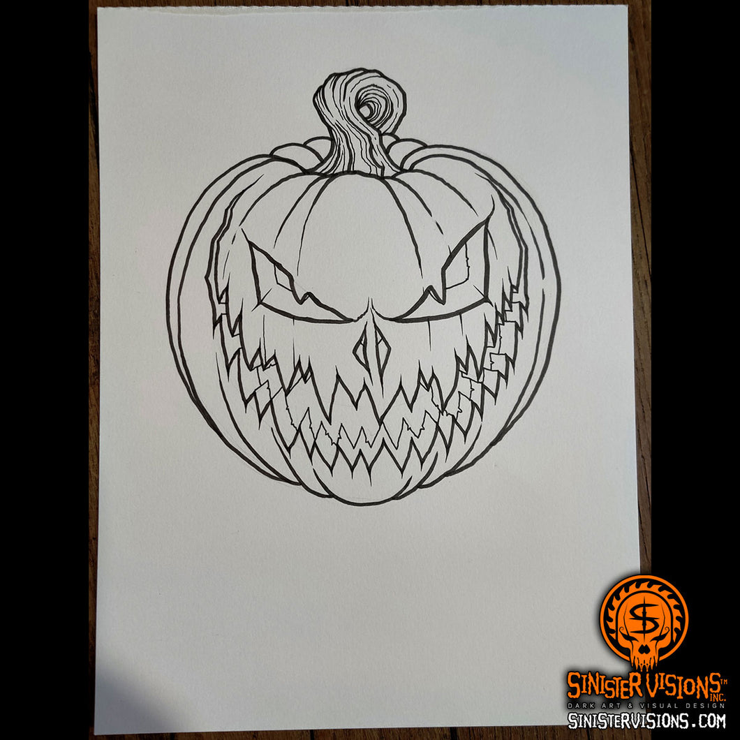 Jack O' Lantern Original Drawing