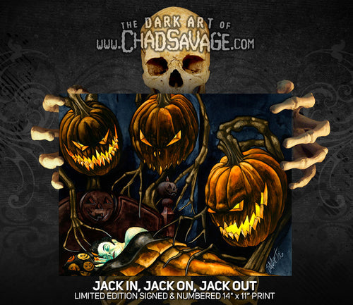 Jack In, Jack On, Jack Out Art Print
