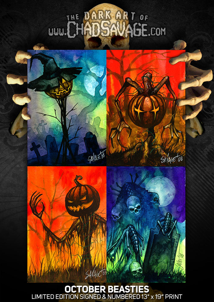 October Beasties Art Print