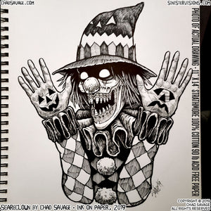 Scareclown Original Drawing