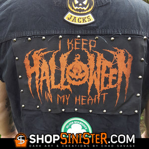 I Keep Halloween In My Heart Punk Rock Back Patch