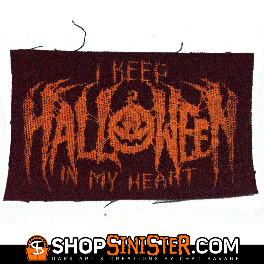 I Keep Halloween In My Heart Canvas Patch