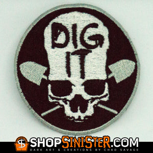Dig It Skull Patch