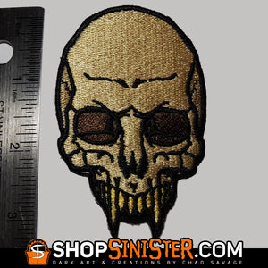 Monster Skull: Lycanthrope Embroidered Patch