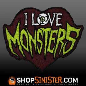 I Love Monsters Patch