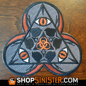 Sinister Skull Patches: Biohazard