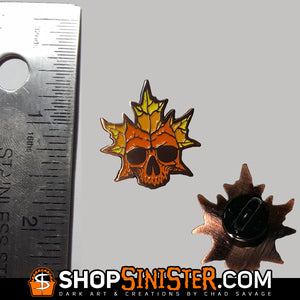 Autumn Skull Soft Enamel Lapel Pin