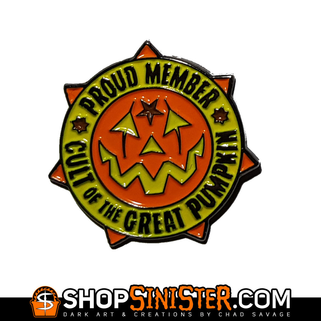 Cult of the Great Pumpkin Enamel Lapel Pin