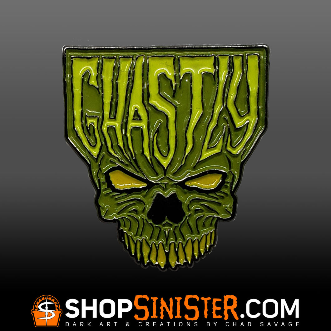 Ghastly Enamel Lapel Pin