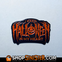 I Keep Halloween In My Heart Enamel Lapel Pin