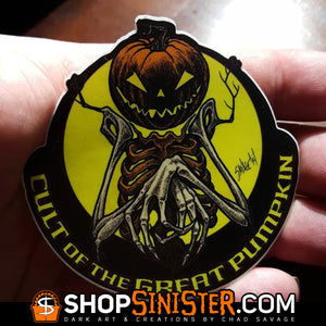 Cult of the Great Pumpkin Scarecrow Sticker