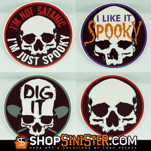 Skull Circle Stickers - Set of All 4