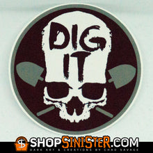 Dig It Skull Sticker