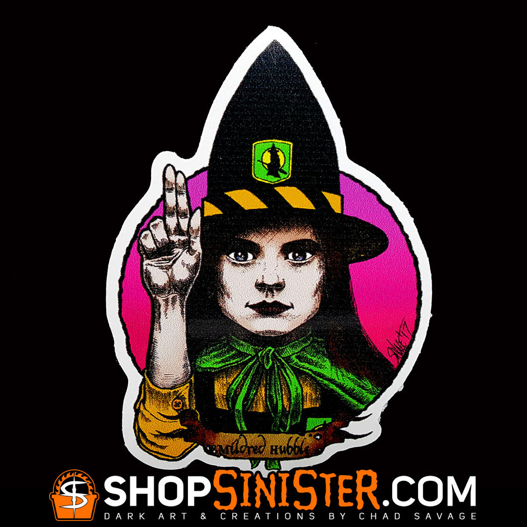 Halloween Saints 2: Mildred Hubble Die Cut Vinyl Sticker