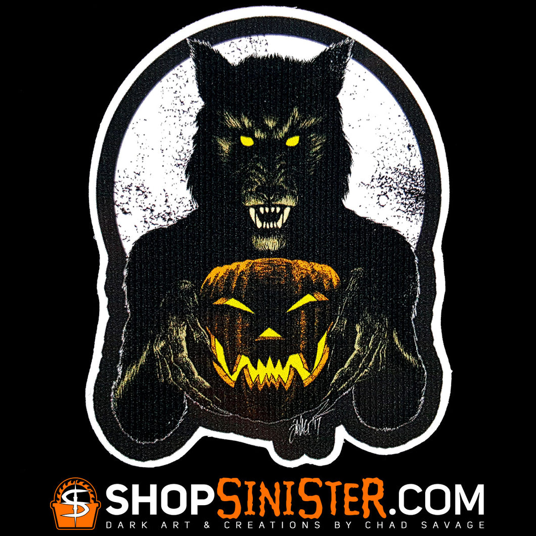 Monster Holiday: Werewolf Die Cut Vinyl Sticker
