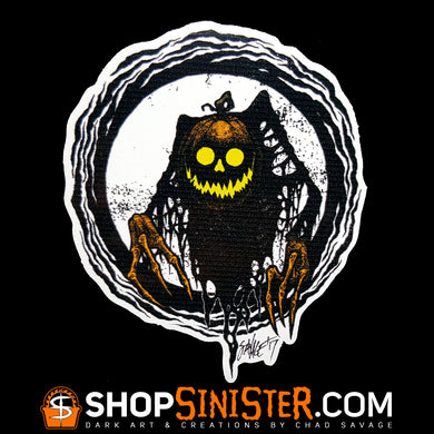 Pumpkin Wicked This Way Comes Die Cut Vinyl Sticker