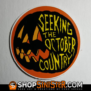 Seeking the October Country Sticker