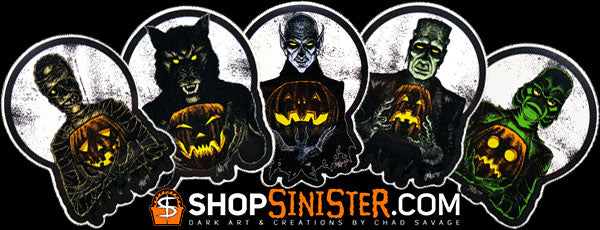 Monster Holiday: All 5 Stickers