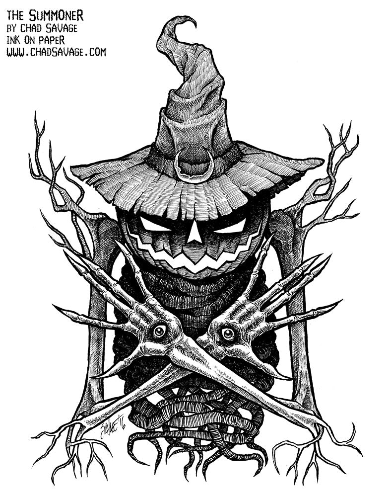 The Summoner Original Halloween Drawing