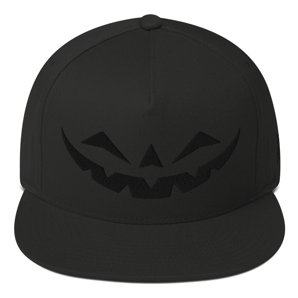 Happy Jack Black-on-Black Flat Bill Cap