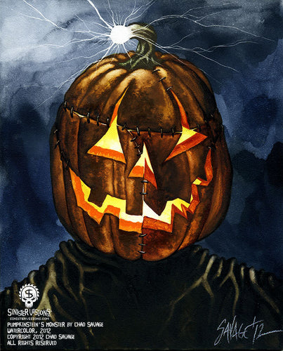 Pumpkinstein's Monster Original Painting