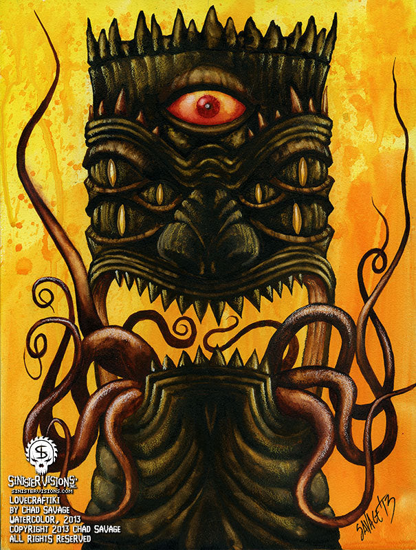 Lovecraftiki Original Painting