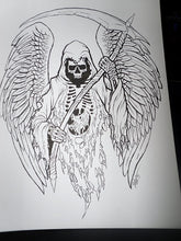Grim Reaper Original Ink Drawing