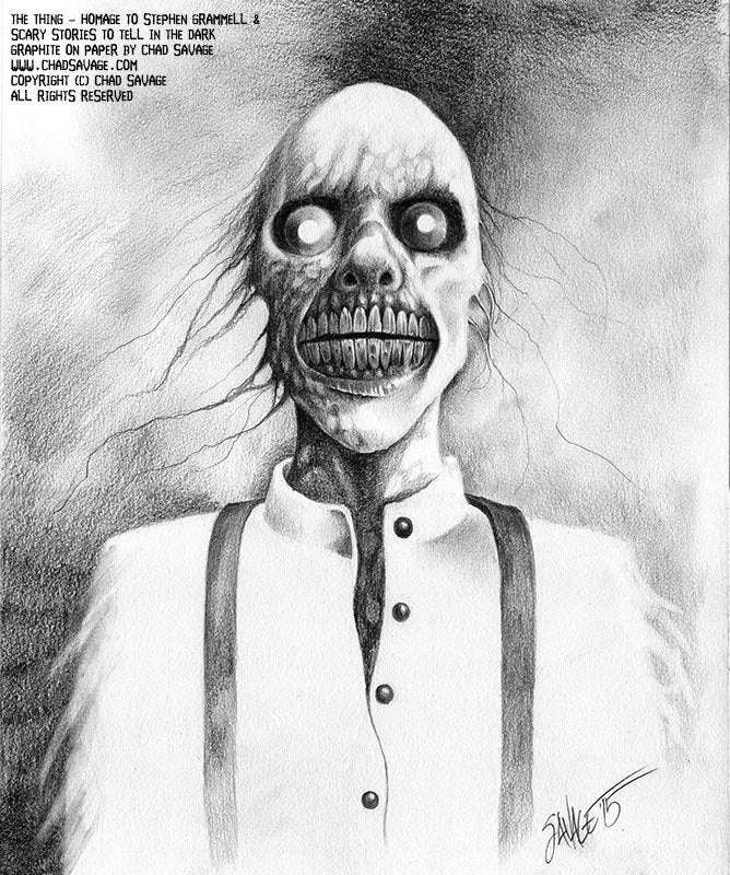 The Thing (Original Drawing) - Ode to Stephen Gammell and Scary Stories to Tell In the Dark