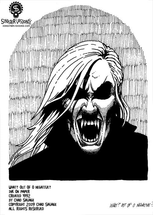 OUT OF O NEGATIVE Original Vampire Artwork
