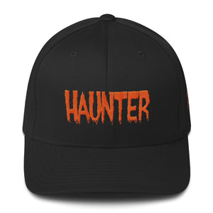Haunter (Orange) Embroidered Structured Twill Cap