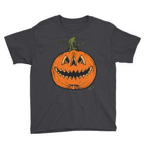 Grim Grinning Gourd Youth Short Sleeve T-Shirt