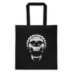 Sinister Visions Screaming Skull Logo Tote bag