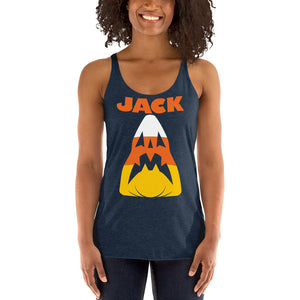 Candy Corn Jack Attack Women's Racerback Tank