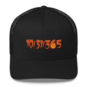 10/31/365 Embroidered Trucker Cap