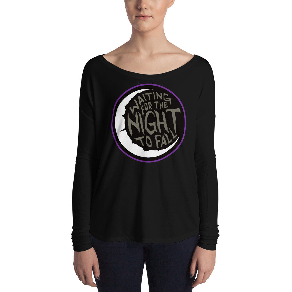 Waiting for the Night to Fall Ladies' Long Sleeve Tee